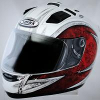 GMAX GM68 Crusader Helmet (Size: Small Color: Red, White & Silver)  Photo