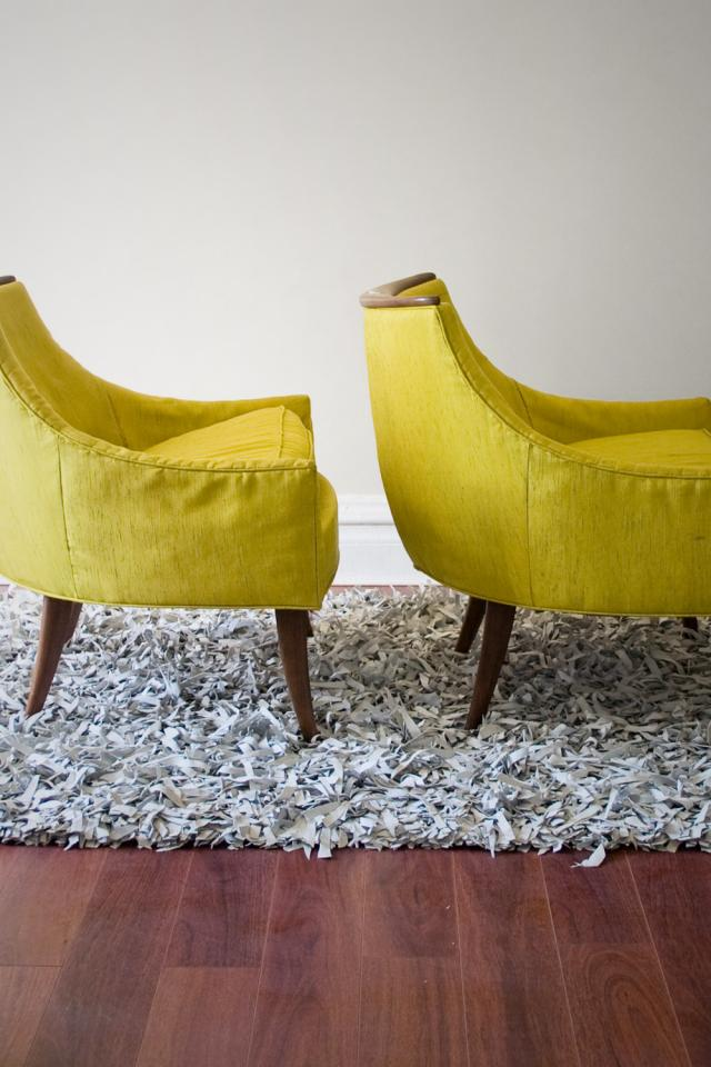 reduced 1950s Atomic KROEHLER Pair CHAIR Low Profile Lounge Club Chairs  Photo