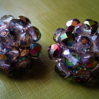 Vintage Aurora Borealis Crystal Earrings Made in Western Germany Photo