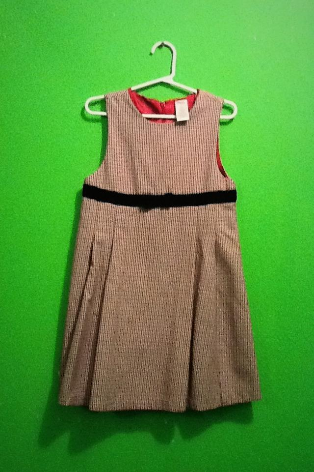Girls used Gymboree holiday winter dress Large Photo